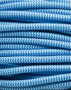 Lyseblå zig-zag stofledning