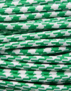 Grøn tofarvet stofledning