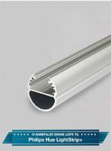 Aluminiumsprofil - Model B til Philips Hue og LIFX - Alu
