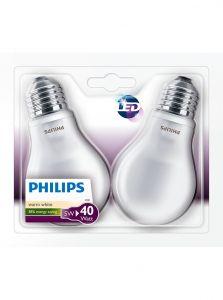 E27 - Philips LED Pære 4.5W - 470lm 2-pak (Lyskilder)