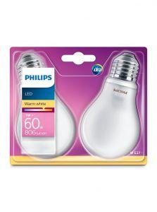 E27 - Philips LED Pære 7W - 806lm 2-pak (Lyskilder)