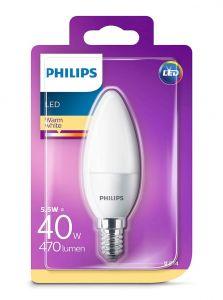 E14 - Philips LED Pære 5.5W - 470lm (Lyskilder)