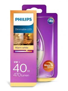 E14 - Philips LED Pære 6W - 470lm (Lyskilder)