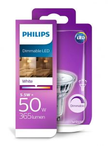 GU10 - Philips LED Spot 4W - 345lm - 3000K - CRI>90