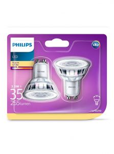 GU10 - Philips LED Spot 3.5W - 255lm 2-pak (Lyskilder)