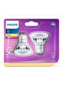 GU10 - Philips LED Spot 4.6W - 355lm 2-pak (Lyskilder)