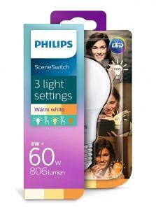 E27 - Philips LED Pære 8-5-2W - 806-320-80lm (Lyskilder)