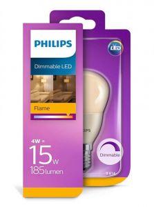 E14 - Philips LED Pære 4W - 185lm (Lyskilder)