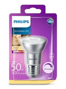E27 - Philips LED Spot 6W - 500lm (Lyskilder)
