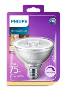 E27 - Philips LED Spot 9.5W - 740lm (Lyskilder)