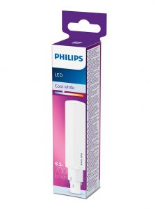 G24D-2 - Philips LED Lysrør 6.5W - 700lm (Lyskilder)
