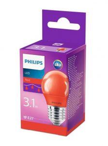 E27 - Philips LED Pære 3.1W - Rød (Lyskilder)