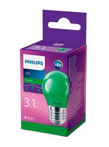 E27 - Philips LED Pære 3.1W - Grøn (Lyskilder)