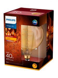 E27 - Philips LED Pære 6.5W - 470lm (Lyskilder)
