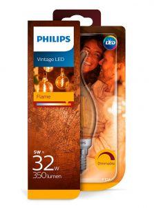 E14 - Philips LED Pære 5W - 350lm (Lyskilder)
