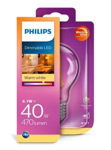 E27 - Philips LED Pære 6.7W - 470lm (Lyskilder)