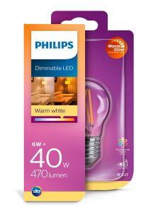 E27 - Philips LED Pære 6W - 470lm (Lyskilder)