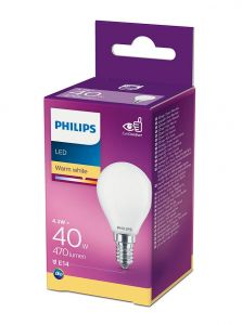 E14 - Philips LED Pære 4.3W - 470lm (Lyskilder)