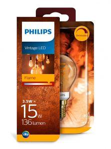E14 - Philips LED Pære 3.5W - 136lm (Lyskilder)