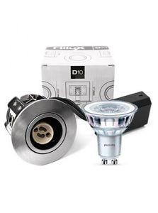 HiluX D10 Alu indendørs inkl. Philips 4.6W LED spot