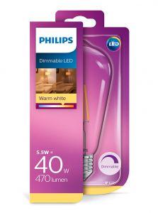 E27 - Philips LED Pære 5.5W - 470lm