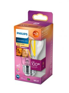 E27 - Philips LED Pære - Klar - 12W - 1521lm