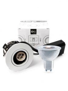 HiluX D10 Hvid Indbygningsspot - inkl. HiluX V1 LED spot