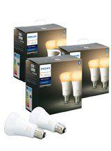 Philips Hue White Ambiance LED pære - E27 - 6-pak