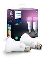 Philips Hue LED pære - E27 Farvet 2-PACK - BT