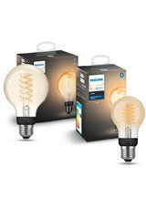 Philips Hue LED Filament - 2 pak - Spiral + Globe 9,5cm