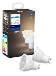 Philips Hue White LED spot - GU10 2-pack - BT