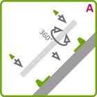 Holder til LED aluliste - Model A