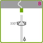 Holder til LED aluliste - Model B
