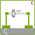 Holder til LED aluliste - Model C