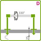 Holder til LED aluliste - Model D