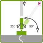 Holder til LED aluliste - Model E