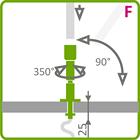 Holder til LED aluliste - Model F